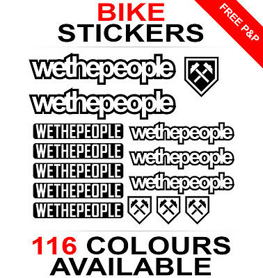 We The People decals stickers sheet (cycling, mtb, bmx, road, bike) die-cut logo