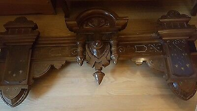 Antique hand-carved cornice