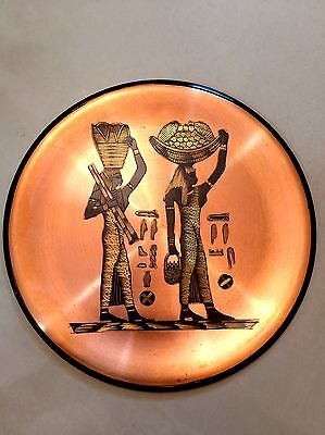 EASTREN COPPER ANTIQUE. PHARAONIC (Egyptian)  DESIGN DISH shape number 2