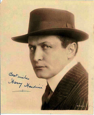 "Harry Houdini (Deceased) Famous Magician ""The Handcuff King"" SIGNED RP 8X10!!!"