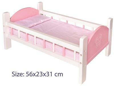 NEW Fun Factory Wooden Doll Cot Bed including Bedding