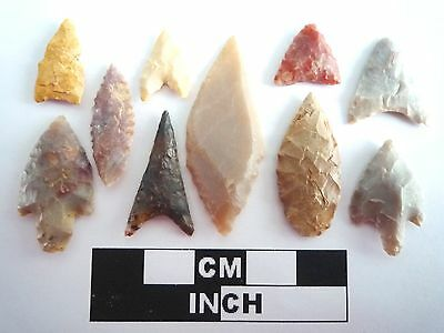 Neolithic Arrowheads x 10, High Quality Selection of Styles - 4000BC - (0382)