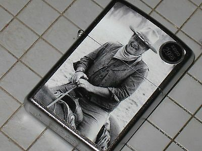 New ZIPPO USA Windproof LIGHTER Trail Boss John Wayne Cowboy Ranch Rope Horse