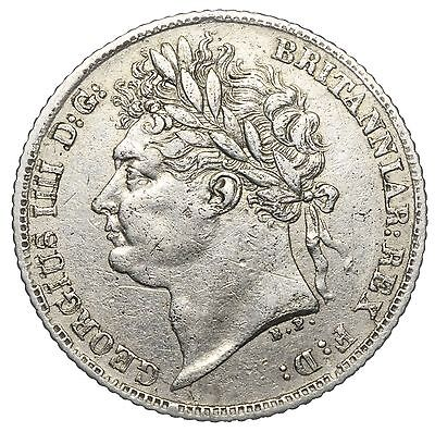 1821 Sixpence - George Iv British Silver Coin - Nice