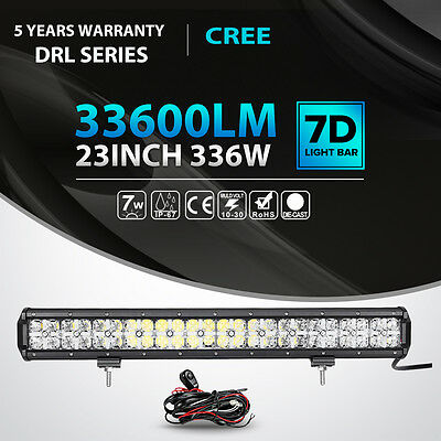 """CREE 336W 23INCH Spot Flood LED Light Bar Work Offroad Driving Lamp 4WD Boat 20"""""""