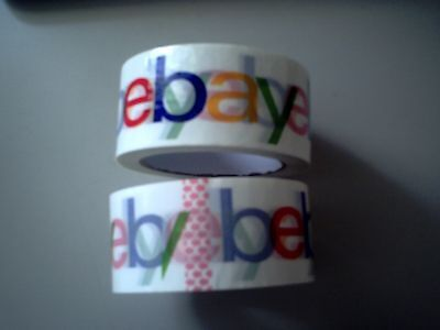 2x Rolls eBay Logo Packing Tape 5 cm Wide  Shipping Packing NEW