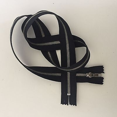1x 88cm black metal closed end heavy weight zipper #5 width zip top quality