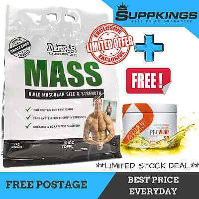 Max's 7Kg// 15.4Lb - Transformation Serious Mass Gainer Protein Bulking