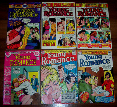 YOUNG ROMANCE #139,140,192,199,202,207 DC 6 Classic Issues 1966-1975