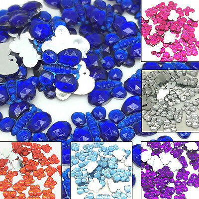 48 pcs 10MM Resin Butterfly Flatback Scrapbook Craft #163