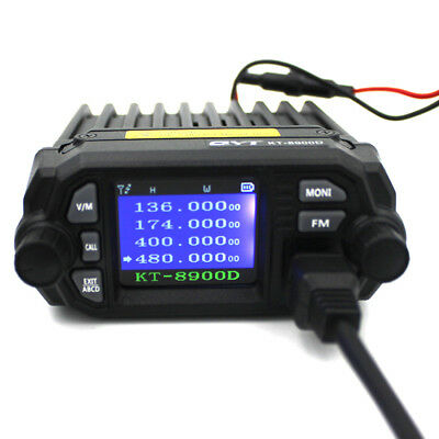 25W Color Screen QYT KT-8900D Quad-Standy Truck Mobile Radio with External MIC