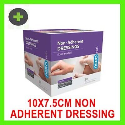 x50 Sterile Double-sided Low-adherent Pad/Dressing 10 x 7.5cm
