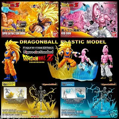 DRAGONBALL Z Figure-rise SS3 GOKOU & BOO & Effect blue / yellow Model kit Set