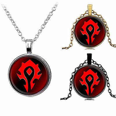 1PC Pendant of World Of Warcraf Tribe Banner Necklace Chains Pokemon Go Digimon