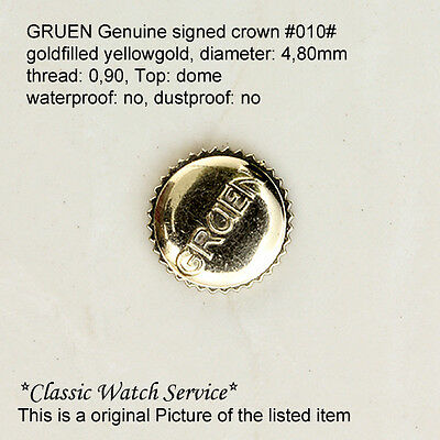 Gruen signierte Krone Signed Crown yellow & white goldfilled 20 styles available