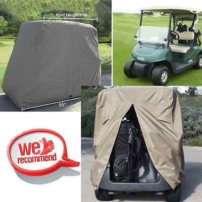 2 Passenger Golf Cart Cover Fits EZ GO, Club Car, Yamaha, Storage W Zipper MG