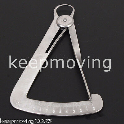 Dental Lab Wax Metal Crown Gauge Caliper Ruler Dental Surgical Instruments