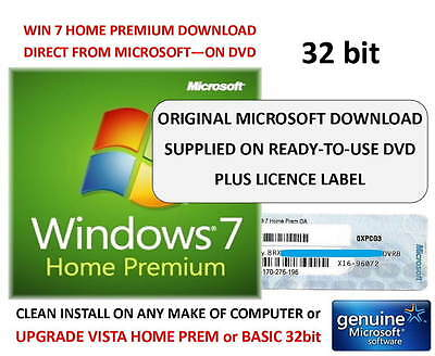 windows 7 home premium dvd 32bit sp1 win 7 home premium. Black Bedroom Furniture Sets. Home Design Ideas