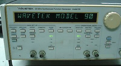 Wavetek 20 MHz Synthesized Function Generator Model 90