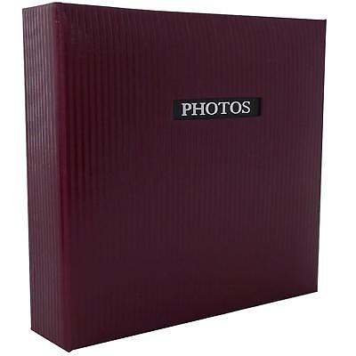 Elegance Red 7x5 Slip In Photo Album - 200 Photos