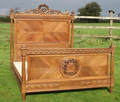 A BEAUTIFUL  LATE 19th CENTURY FRENCH WALNUT NORMANDY KING SIZE BED