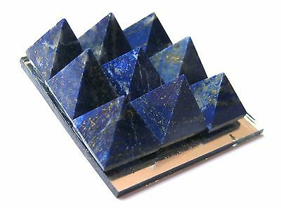 Lapis Lazuli Pyramid Plate Feng Shui Gift Crystal Healing Psychic Energy Reiki