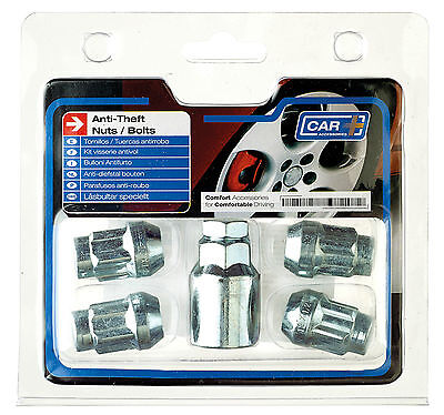 Sumex Anti Theft Locking Wheel Bolts Nuts + Key Set to fit Hyundai i10 (12x1.50)