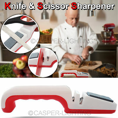 Knife Scissor Sharpener Knive Roller Blade Stone Chef Sharpening Kitchen Machine