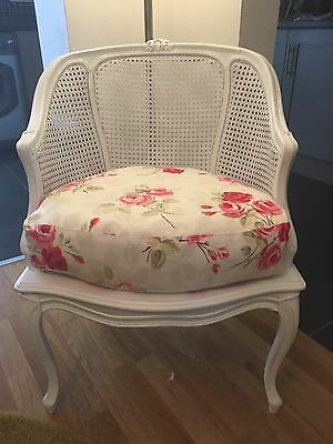 French Louis Bergere Rattan Vintage Chair