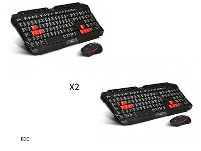 Lot de 2 Packs  Clavier & Souris Gamer sans fil 2.4GHz gaming ADVANCE NEUF