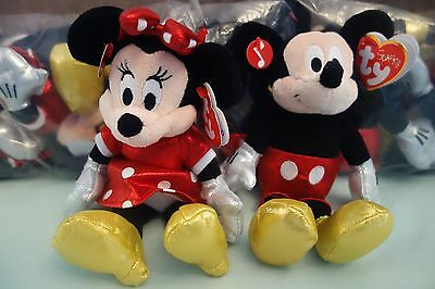 Giggling Mickey Mouse And Minnie Mouse Ty Beanie £11.99 For The Pair & Free Post