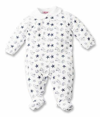 NEW BABY BOY Sleepsuit long sleeve 100 % cotton NEW 12 M Sea Life STAR FISH