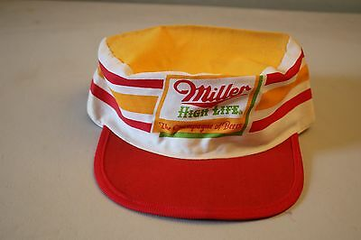 Vintage Miller High Life Champagne of Beers Painters Cap Hat One Size Fits All