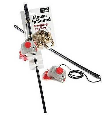 Sharples'n'Grant Cat Kitten Toy Dangler Mouse 'n' Sound Pet Dangling Teaser Play