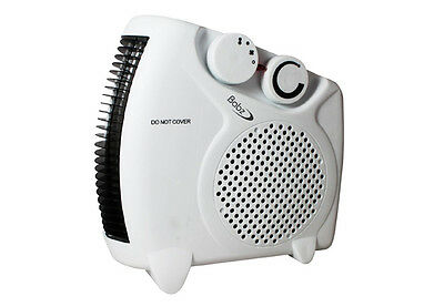 2000W 2KW Portable Silent Electric Fan Heater Hot & Cold Thermostat Flat Upright