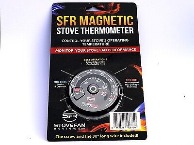 SFR Stove Thermometer -  Magnetic Gauge for Wood Burner and Stove Fan Control