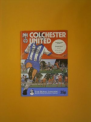 League Division Four - Colchester United v Mansfield - 5th November 1982