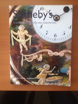 Sotheby`s Auction Catalogue of Antique Clocks/Watches and Barometers-2003.