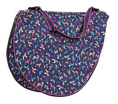 Shires Dog Print Saddle Carrying Bag