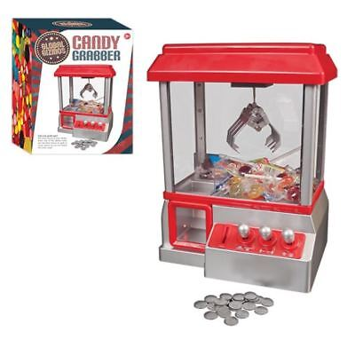 Candy Grabber Claw Machine Fairground Joystick Arcade Game Sweets Prize Tokens