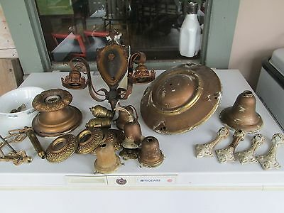 Lot of 3, 1910's-20's Style Electric Lamp Fixtures