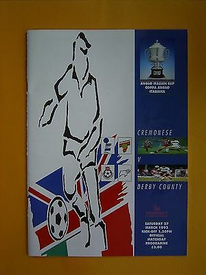 Anglo Italian Cup Final - Cremonese v Derby County - 27th March 1993