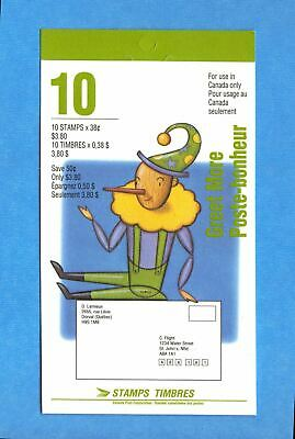 Canada 1993 Christmas Personages Scott# BK162 Booklet Of 10