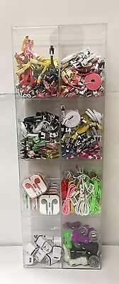 200 Units Cell Phone Accessories Display Rack Car Chargers Cables Wholesale