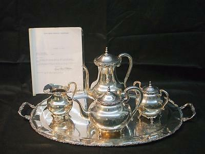 Vintage 60's Mexico G Moreno Sterling Silver 6pc Coffee Tea Set 148 OZ INVEST