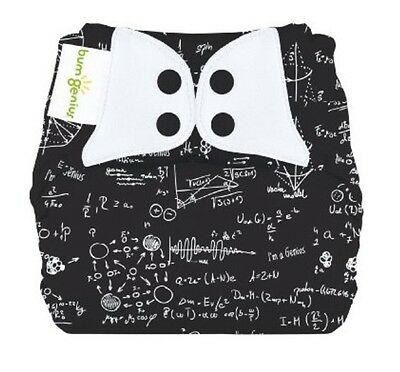 BumGenius Elemental All in One Cloth Organic Diaper, Snap, Albert, One Size, NEW