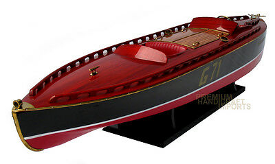 "Rare Beautiful handcrafted Rainbow IV G-71 35"" Display Wooden Model Boats"