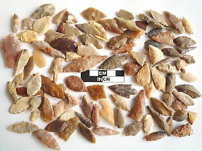 Neolithic Arrowheads x 100, Selection of Styles and Sizes - 4000BC - (0770)