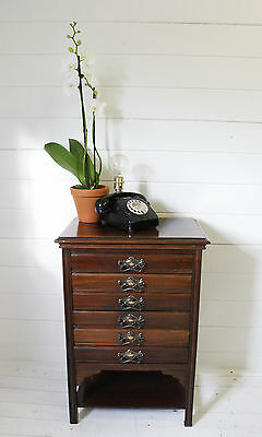 Antique Edwardian chest of filing drawers