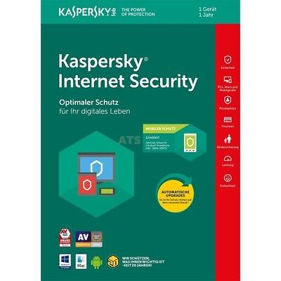 Kaspersky Internet Security 2018 Standard 1 PC 1 Jahr + mobiler Schutz GreenIT